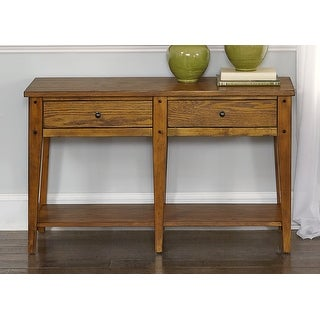 Link to Lake House Oak Finish Rustic Sofa Table Similar Items in Living Room Furniture