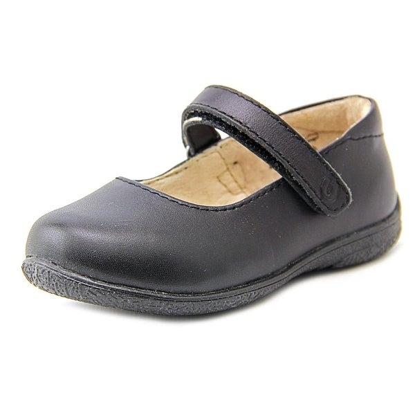 Umi Ria Toddler Round Toe Leather Black Mary Janes