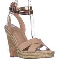 Charles Charles David Brit Wedge Sandals, Nude/Rosegold