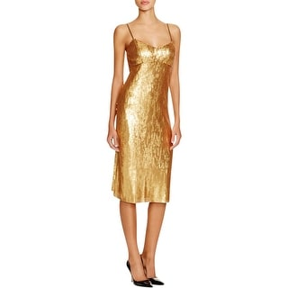 DKNY Womens Cocktail Dress Sequined Adjustable Straps