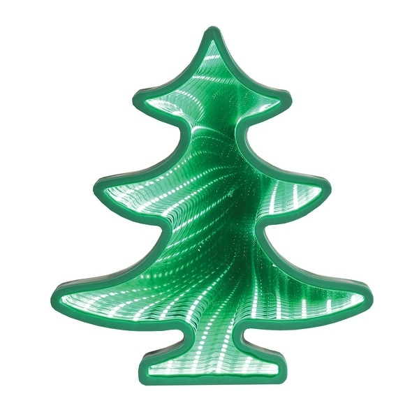 what on earth light up christmas tree mirror tunnel led lit holiday decor