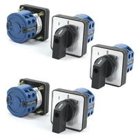 Unique Bargains 5Pcs LW26-20/2 690V 20A 8 Screw Terminal 3-Position Rotary Changeover Switch