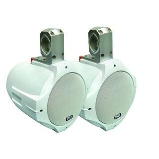 Pyle 6.5'' 200 Watt 2-Way White Wake Board Speakers