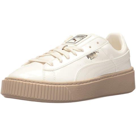 PUMA Women's Basket Platform Patent Wn Sneaker