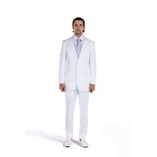 Porto Filo Men's 2 Piece White Classic Fit Suit