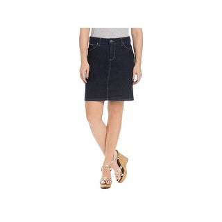 Beija Flor Womens Audrey Straight Skirt Denim Knee-Length