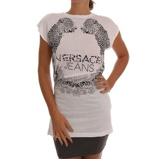 Versace Jeans Versace Jeans White Tiger Motive Blouse - it42-m