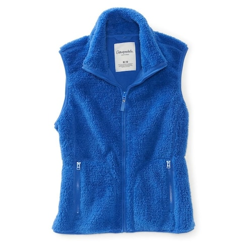Aeropostale Womens Cuddle Poly Fleece Vest
