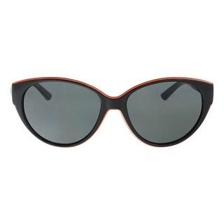 DKNY DY4120 300187 Black/Orange Oval Sunglasses - 57-16-140
