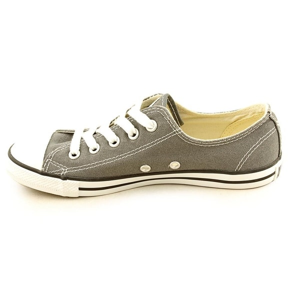 Round Toe Canvas Gray Sneakers