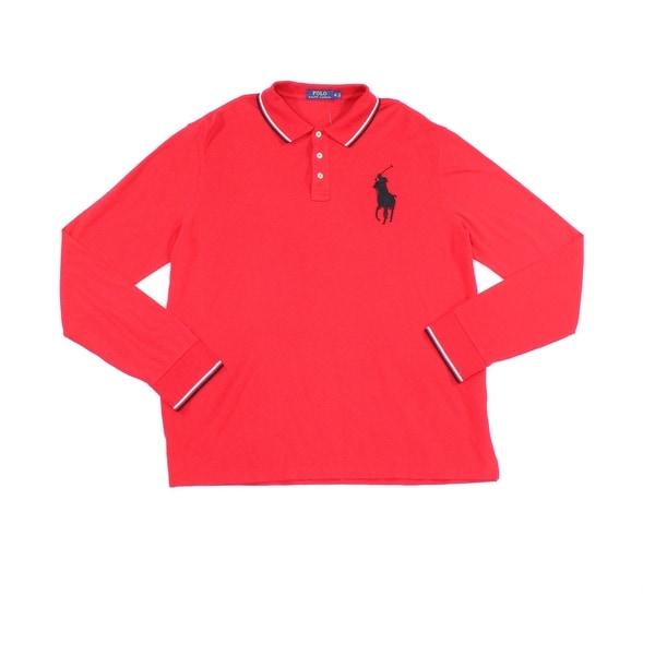 672d2b771 Shop Polo Ralph Lauren NEW Apple Red Mens Size XL Long-Sleeve Polo ...