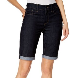 NYDJ NEW Dark Blue Women's Size 8 Slimming Fit Cuffed Denim Shorts