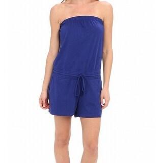 Allen Allen NEW Blue Women's Size Large L Strapless Romper
