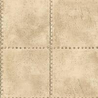 Brewster 2604-21254 Riveted Champagne Industrial Tile Wallpaper - champagne tile - N/A