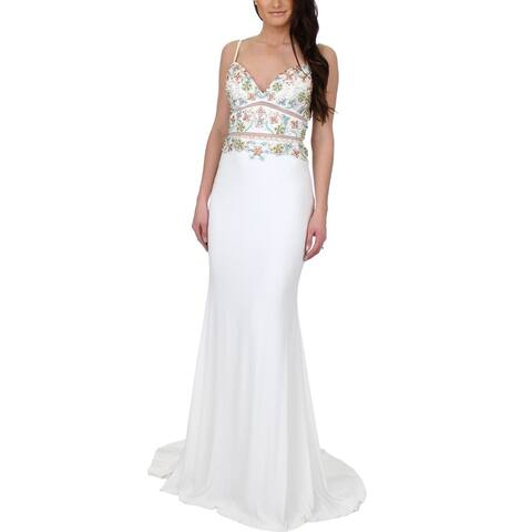 Faviana Womens S7718 Evening Dress Prom Beaded
