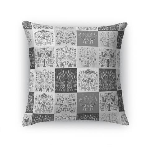 SCANDINAVIAN PATCHWORK GREYSCALE Accent Pillow By Kavka Designs