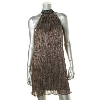 Laundry by Shelli Segal Womens Metallic Sleeveless Cocktail Dress - 0
