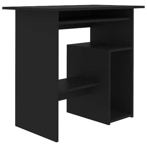 """vidaXL Desk Black 31.5""""x17.7""""x29.1"""" Chipboard"""