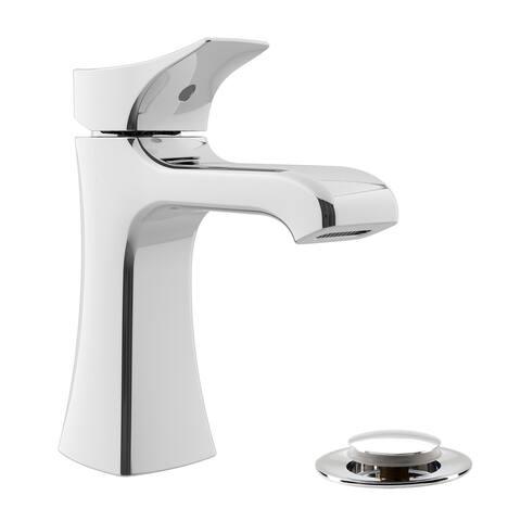 Belanger STR-DC-22CP Single Handle Bathroom Faucet with Drain, Polished Chrome