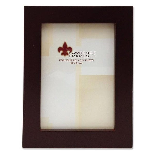 Lawrenceframes 755923 2.5 x 3.5 in. Espresso Wood Picture Frame ...