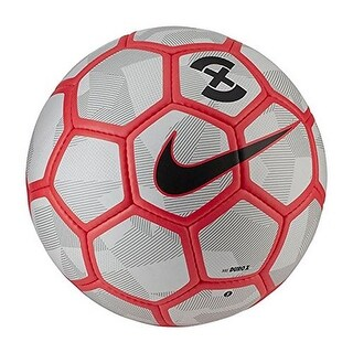 Nike Unisex NK DURO X SOCCER BALL - pure platinum/bright crimson/black