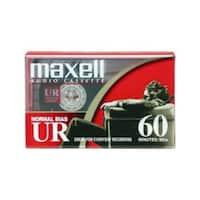 Maxell Cassette, UR-60, Type I Normal Bias, 60 min, Std