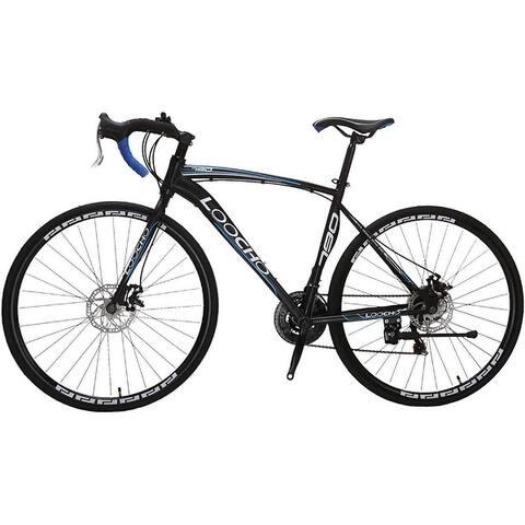 "Road Bike 21 Speed Dual Disk Brake 20"" Frame 700C Wheels Fitness Bicycle Urban City Commuter Bike"