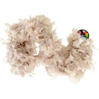 Turkey Feather Chandelle Boa 2yd-Barely There