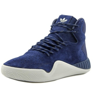 Adidas Tubular Instinct Youth Round Toe Suede Blue Tennis Shoe