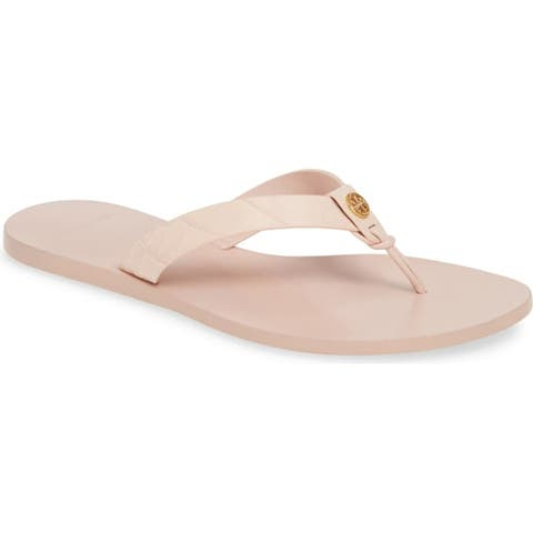 Tory Burch Womens Manon Sea Shell Pink Sandals Shoes