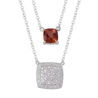 925 Sterling Silver White Zircon Necklace 20 Inch - Necklace 20''