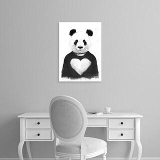 Easy Art Prints Balazs Solti's 'Lovely Panda' Premium Canvas Art