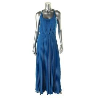 Jessica Simpson Womens Chiffon Pleated Maxi Dress - 2