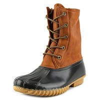 The Original Duck Boot Arianna Women  Round Toe Leather Brown Rain Boot