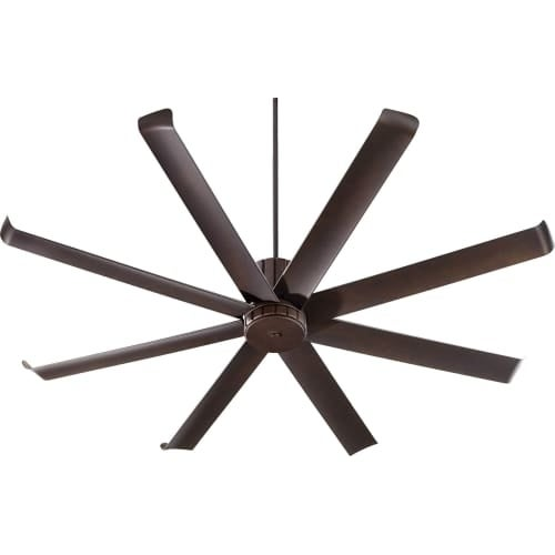 "Quorum International 196728 Proxima Patio 72"" 8 Blade Hanging Indoor / Outdoor Ceiling Fan with Reversible Motor and Blades"