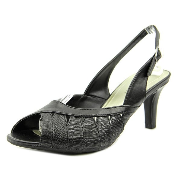 Easy Street Mimi Women WW Peep-Toe Synthetic  Slingback Heel