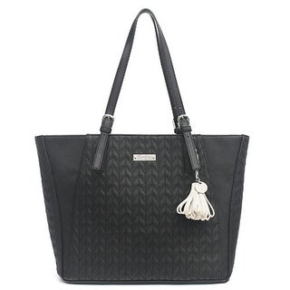 Jessica Simpson Womens Cynthia Tote Handbag Faux Leather Quilted - Large
