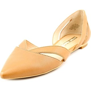Audrey Brooke Nary Women  Pointed Toe Leather Nude Flats