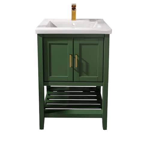 """Legion Furniture 24"""" Vogue Green SINK VANITY WLF9024-VG"""