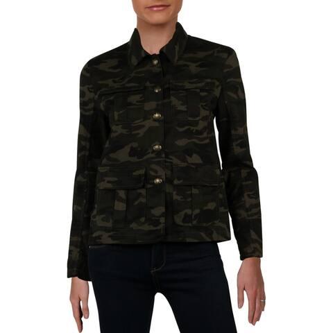 Aqua Womens Jacket Twill Pockets - Camo - XS