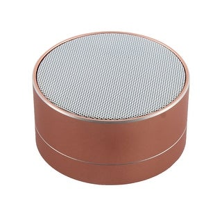 Cellphone bluetooth Wireless USB Portable Stereo Music Speaker Rose Gold Tone