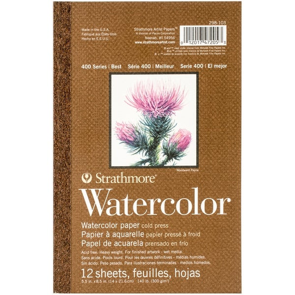 "Strathmore Watercolor Paper Pad 5.5""X8.5""-12 Sheets"