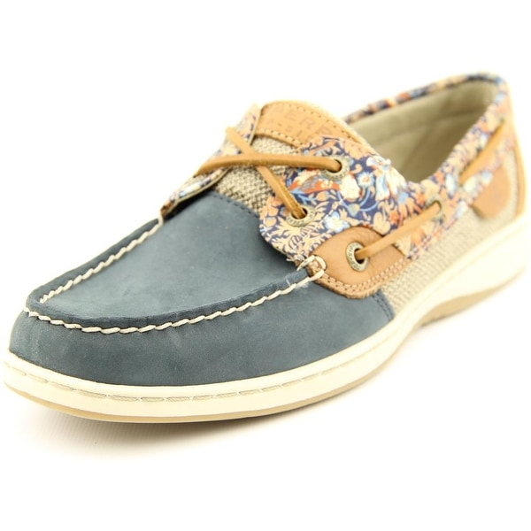 Sperry Top Sider Bluefish Liberty Women  Moc Toe Leather Blue Boat Shoe