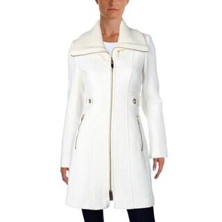 Via Spiga Womens Car Coat Winter Wool Blend