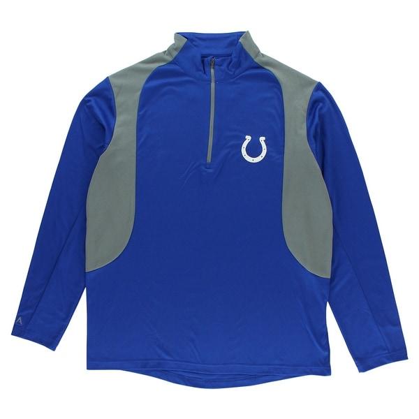 523f6cf0 Antigua Mens Indianapolis Colts Delta Quarter Zip Pullover Jacket Blue -  Blue/Grey - L
