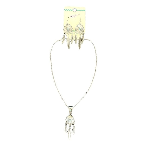 Blazin Roxx Jewelry Womens Necklace Earrings Dream Silver 30896