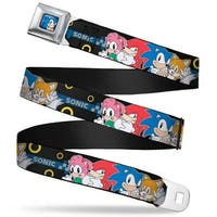 Sonic Classic Sonic Standing Pose Full Color Black Blue Sonic 4 Character Seatbelt Belt