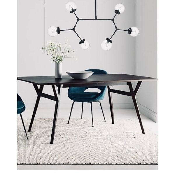 Modern Bubble Geometric Six Light Chandelier in Matte Black. Opens flyout.