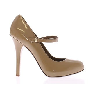 Dolce & Gabbana Beige Patent Leather Mary Janes Platform Shoes - 41