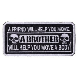 A FRIEND Versus A BROTHER Embroidered Iron on Motorcycle Biker Vest Patch P111
